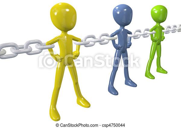 grupo, cadena, gente, unir, diverso, enlace, fuerte - csp4750044