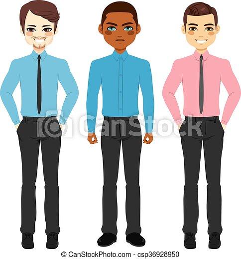 Grupo de hombres de negocios casuales - csp36928950