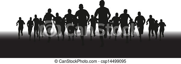grupo, corredores - csp14499095