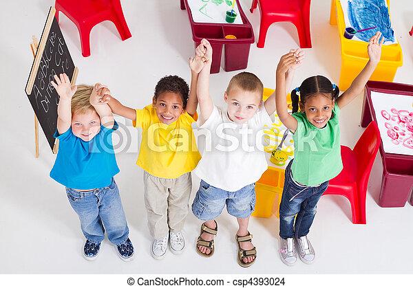 grupo, crianças, pré-escolar - csp4393024