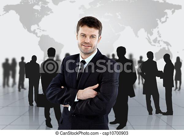grupo, empresarios - csp10700903