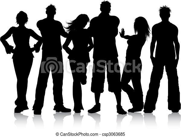 grupo, jovens - csp3063685