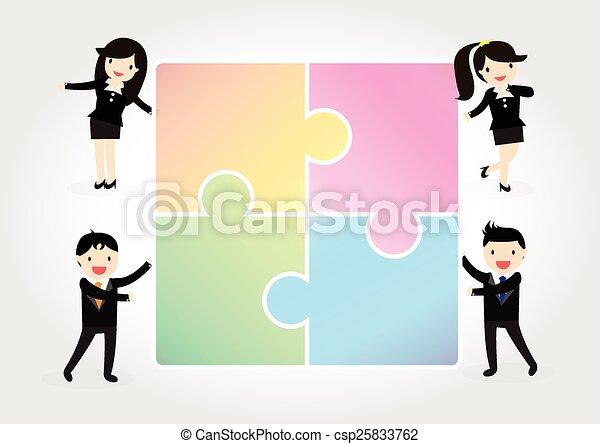 grupo, negócio - csp25833762
