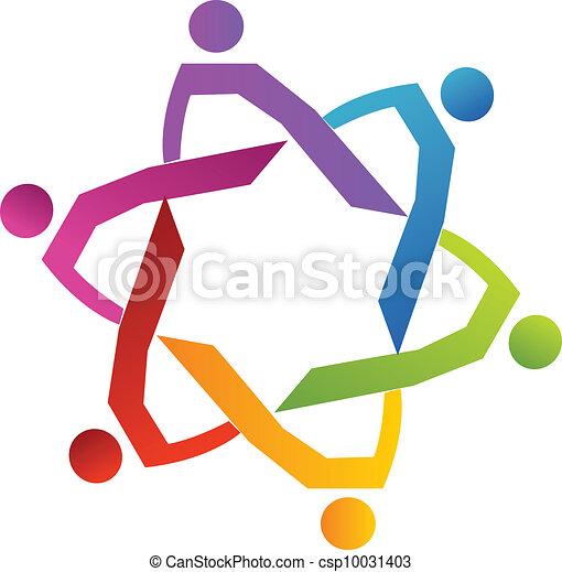 grupo, pessoas, diversidade, trabalho equipe - csp10031403
