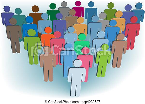 grupo, pessoas, símbolo, cores, companhia, ou, população - csp4239527