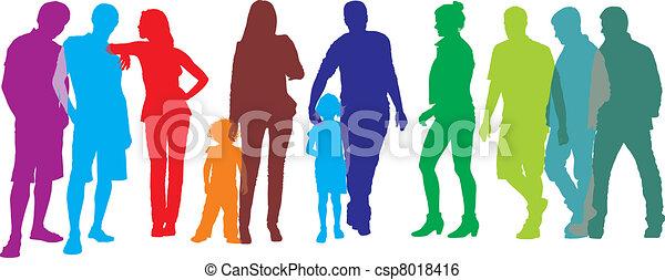grupo, pessoas - csp8018416