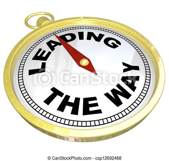 Compass - liderando con el liderazgo del grupo - csp12692468