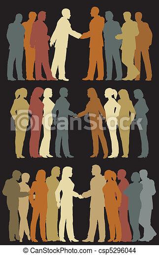 Grupos de negocios - csp5296044