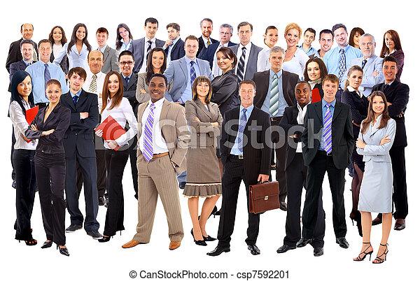 grupp, affär, folk., isolerat, bakgrund, vit, över - csp7592201
