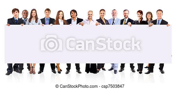 grupp, affärsfolk - csp7503847