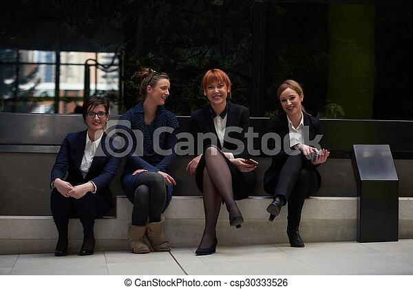gruppe, geschäftsbüro, leute - csp30333526