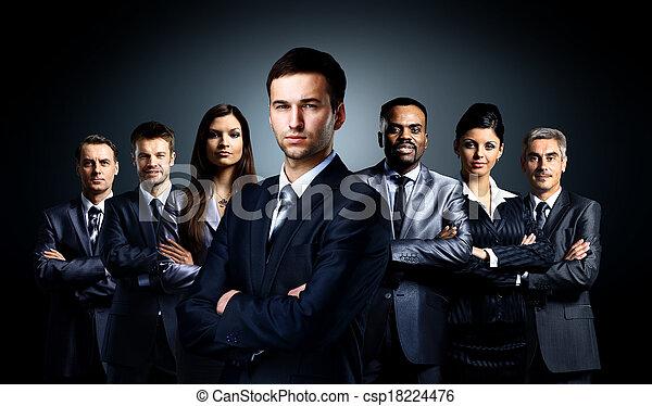 gruppe, geschäftsmenschen - csp18224476