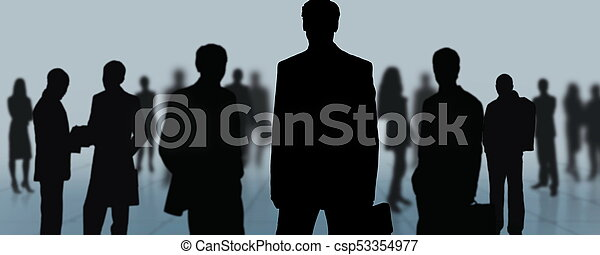 gruppe, geschäftsmenschen - csp53354977