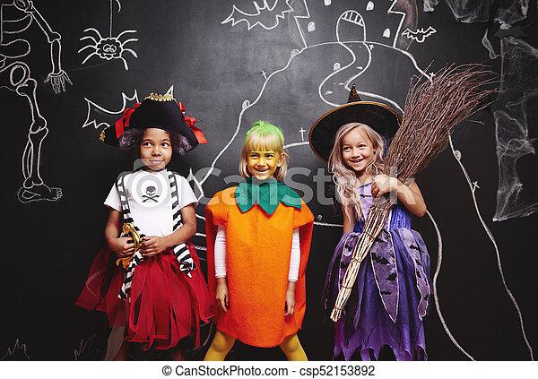 Halloween Gruppo.Gruppe Kinder Halloween