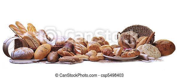 gruppo, cibo, pane fresco - csp5498403