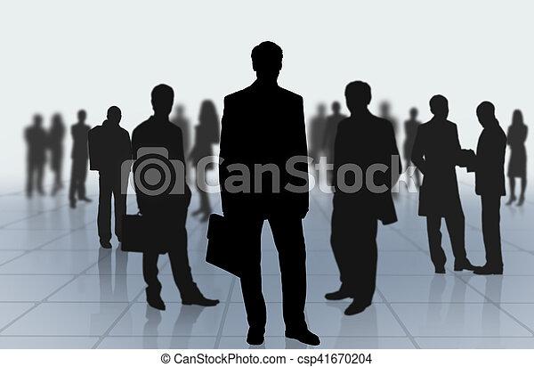gruppo, persone affari - csp41670204