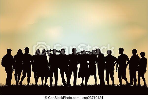 gruppo, persone - csp23710424