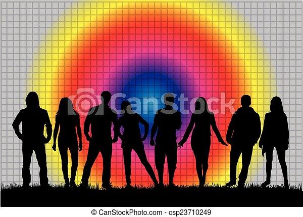gruppo, persone - csp23710249