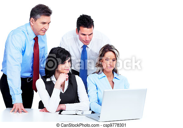 gruppo, working., persone affari - csp9778301