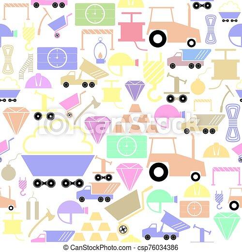 gruvdrift, mönster, seamless, bakgrund, icon. - csp76034386