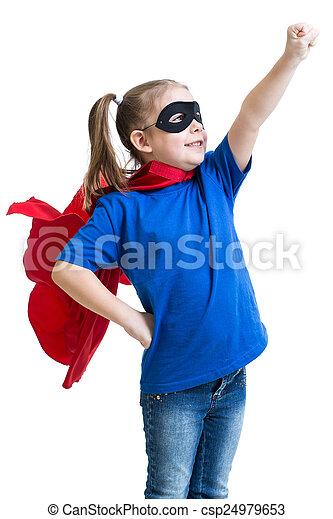 gry, dziewczyna, superhero, koźlę - csp24979653
