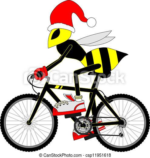 guêpe, vélo - csp11951618