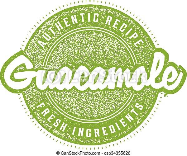 Guacamole Menu Stamp - csp34355826