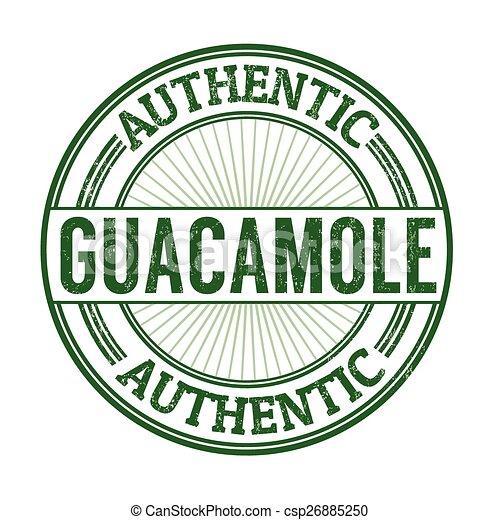 Guacamole stamp - csp26885250