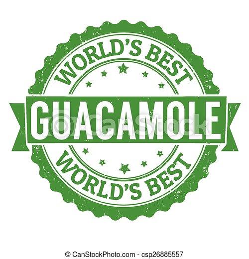 Guacamole stamp - csp26885557