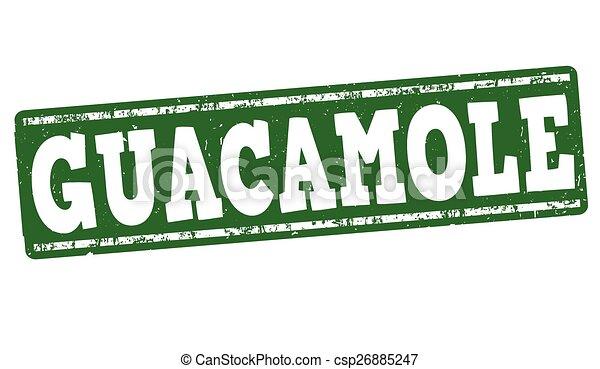 Guacamole stamp - csp26885247