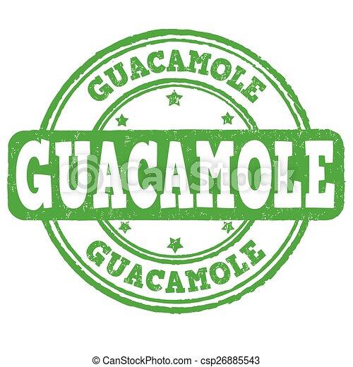Guacamole stamp - csp26885543