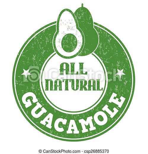 Guacamole stamp - csp26885370