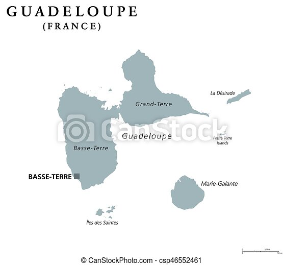 Guadeloupe political map - csp46552461