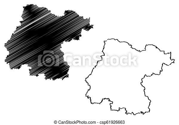 Guanajuato (united mexican states, mexico, federal republic) map ...