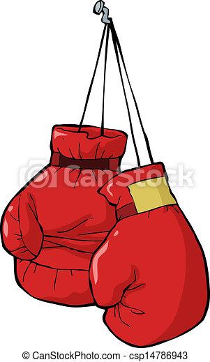 guantes de boxeo clavo guantes boxeo vector ilustración