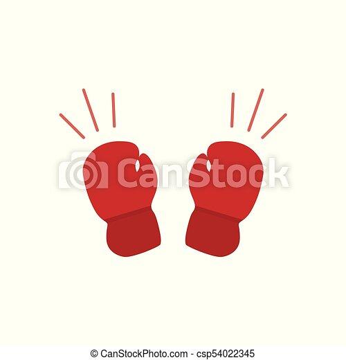 guantes de boxeo icono icon vector guantes boxeo vector