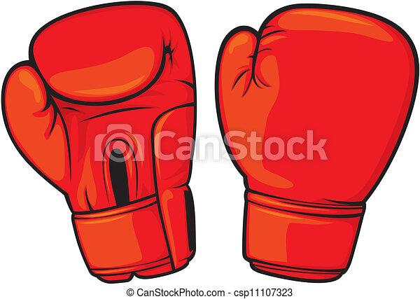 Guantes de boxeo rojos - csp11107323