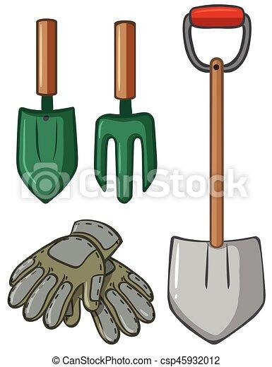 Guantes herramientas de jardiner a ilustraci n clip art - Herramienta de jardineria ...