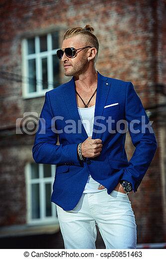 Guapo Bien Vestido Hombre Hombre Viejo Town Fashion Belleza