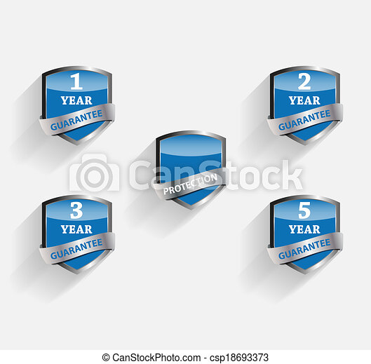 Guarantee Label Shield Vector Illustration - csp18693373