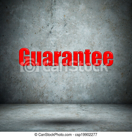 Guarantee on concrete wall - csp19902277