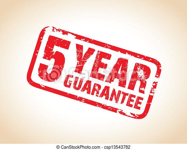 guarantee stamp - csp13543782