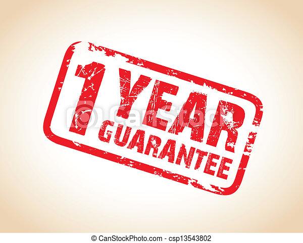 guarantee stamp - csp13543802