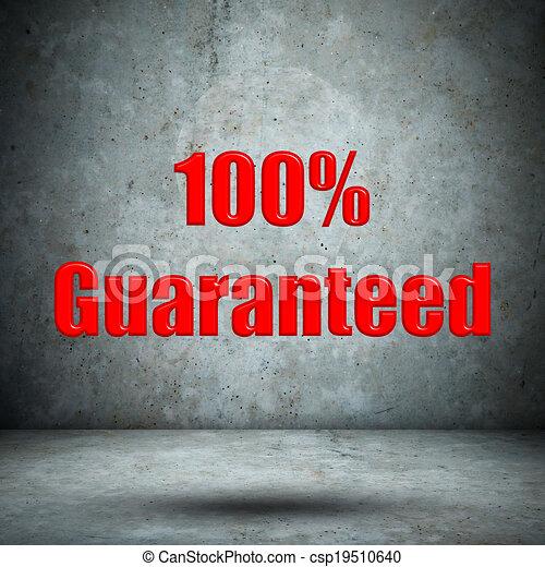 Guaranteed on concrete wall - csp19510640
