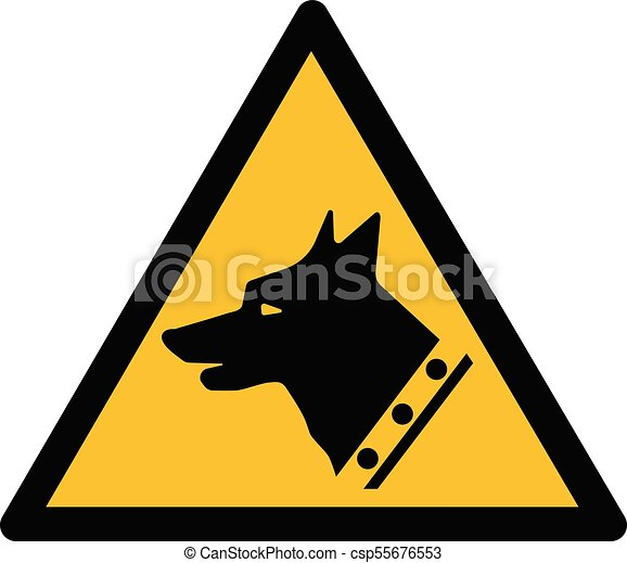 guard dog vector yellow black triangle warning guard dogs rh canstockphoto com dog vector images dog paw vector art