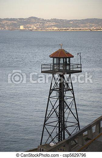 Guard Tower at Alcatraz - csp5629796