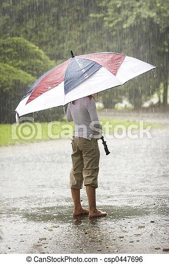guarda-chuva, chuva - csp0447696