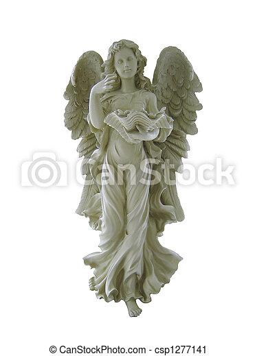 guardián, blanco, aislado, ángel - csp1277141