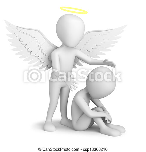 guardian angel 3d small person sitting and guardian angel 3d image rh canstockphoto com guardian angel clip art free printable guardian angel clipart free