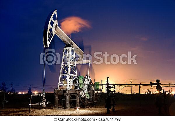 guarneça, óleo, night. - csp7841797